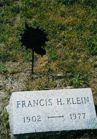 KLEIN, FRANCIS H. - Meigs County, Ohio | FRANCIS H. KLEIN - Ohio Gravestone Photos