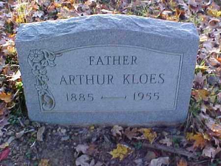 KLOES, ARTHUR - Meigs County, Ohio | ARTHUR KLOES - Ohio Gravestone Photos