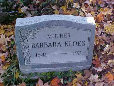 KLOES, BARBARA - Meigs County, Ohio | BARBARA KLOES - Ohio Gravestone Photos