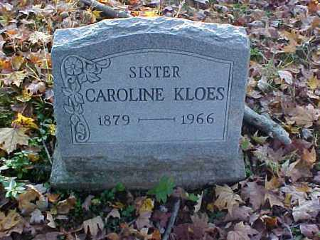 KLOES, CAROLINE - Meigs County, Ohio | CAROLINE KLOES - Ohio Gravestone Photos