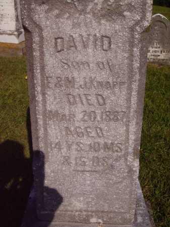 KNAPP, DAVID - CLOSER VIEW - Meigs County, Ohio | DAVID - CLOSER VIEW KNAPP - Ohio Gravestone Photos