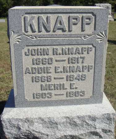 KNAPP, ADDIE E. - Meigs County, Ohio | ADDIE E. KNAPP - Ohio Gravestone Photos