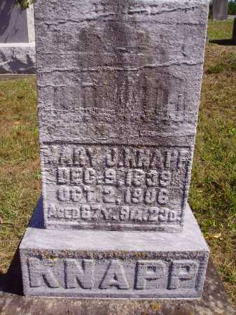 KNAPP, MARY J. - Meigs County, Ohio | MARY J. KNAPP - Ohio Gravestone Photos