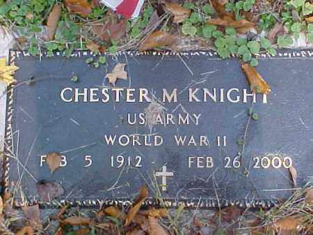 KNIGHT, CHESTER M. - Meigs County, Ohio | CHESTER M. KNIGHT - Ohio Gravestone Photos