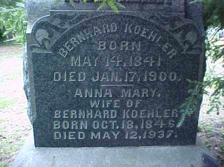KOEHLER, BERNHARD - Meigs County, Ohio | BERNHARD KOEHLER - Ohio Gravestone Photos
