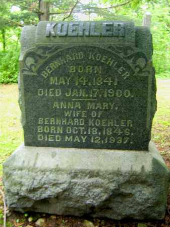WINK KOEHLER, ANNA MARY - Meigs County, Ohio | ANNA MARY WINK KOEHLER - Ohio Gravestone Photos
