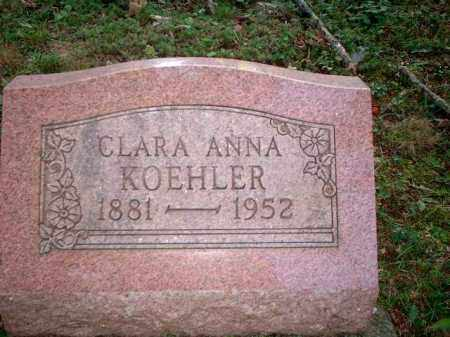 KOEHLER, CLARA ANNA - Meigs County, Ohio | CLARA ANNA KOEHLER - Ohio Gravestone Photos
