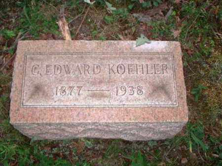 KOEHLER, G. EDWARD - Meigs County, Ohio | G. EDWARD KOEHLER - Ohio Gravestone Photos