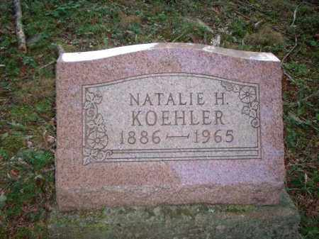 KOEHLER, NATALIE H. - Meigs County, Ohio | NATALIE H. KOEHLER - Ohio Gravestone Photos