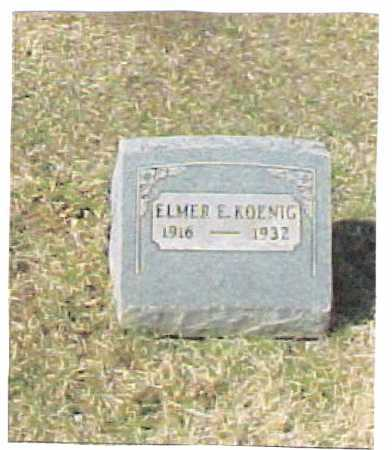 KOENIG, ELMER E. - Meigs County, Ohio | ELMER E. KOENIG - Ohio Gravestone Photos