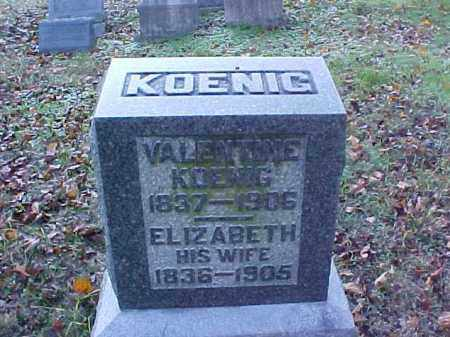 KOENIG, ELIZABETH - Meigs County, Ohio | ELIZABETH KOENIG - Ohio Gravestone Photos