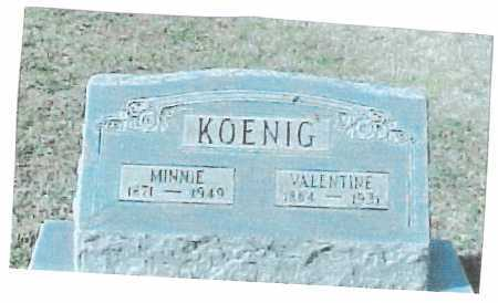 KOENIG, VALENTINE - Meigs County, Ohio | VALENTINE KOENIG - Ohio Gravestone Photos
