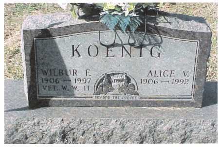 KOENIG, WILBUR - Meigs County, Ohio | WILBUR KOENIG - Ohio Gravestone Photos