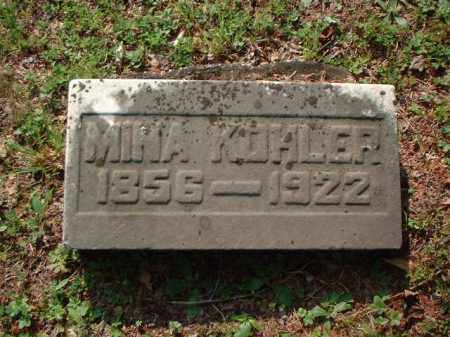 KOHLER, MINA - Meigs County, Ohio | MINA KOHLER - Ohio Gravestone Photos