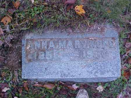 KOPE, ANNA MARY - Meigs County, Ohio | ANNA MARY KOPE - Ohio Gravestone Photos