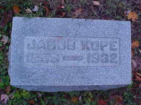 KOPE, JACOB - Meigs County, Ohio | JACOB KOPE - Ohio Gravestone Photos