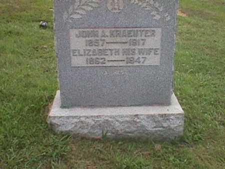 WEBER KRAEUTER, ELIZABETH - Meigs County, Ohio | ELIZABETH WEBER KRAEUTER - Ohio Gravestone Photos
