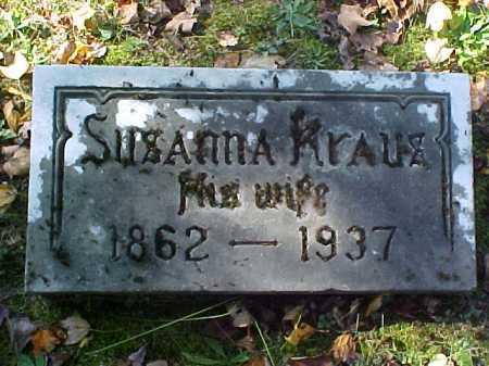 KRAUS, SUSANNA - Meigs County, Ohio | SUSANNA KRAUS - Ohio Gravestone Photos