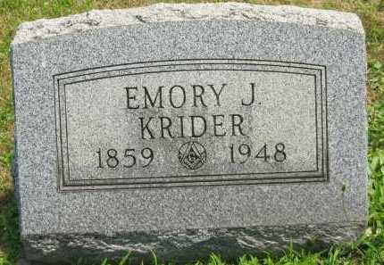 KRIDER, EMORY J. - Meigs County, Ohio | EMORY J. KRIDER - Ohio Gravestone Photos