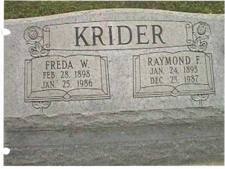 KRIDER, FREDA - Meigs County, Ohio | FREDA KRIDER - Ohio Gravestone Photos
