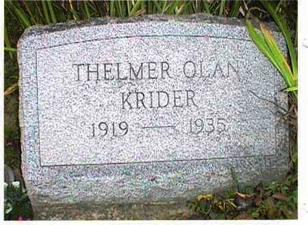 KRIDER, THELMER OLAN - Meigs County, Ohio | THELMER OLAN KRIDER - Ohio Gravestone Photos