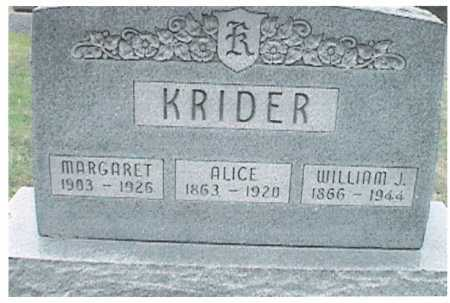 KRIDER, ALICE - Meigs County, Ohio | ALICE KRIDER - Ohio Gravestone Photos