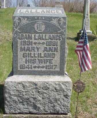 LALLANCE, MARY ANN - Meigs County, Ohio | MARY ANN LALLANCE - Ohio Gravestone Photos
