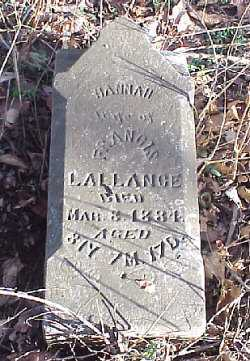 MCDANIEL LALLANCE, HANAH - Meigs County, Ohio | HANAH MCDANIEL LALLANCE - Ohio Gravestone Photos