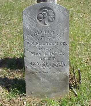 LALLANCE, WILLIAM S. - Meigs County, Ohio | WILLIAM S. LALLANCE - Ohio Gravestone Photos
