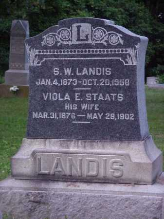 LANDIS, S.W. - Meigs County, Ohio | S.W. LANDIS - Ohio Gravestone Photos