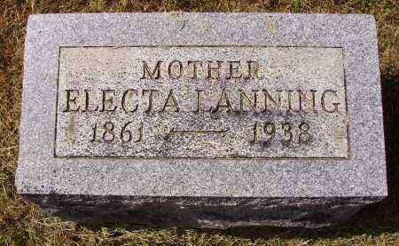 MARTIN LANNING, ELECTA - Meigs County, Ohio | ELECTA MARTIN LANNING - Ohio Gravestone Photos