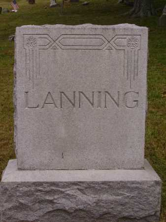 LANNING, MONUMENT - Meigs County, Ohio | MONUMENT LANNING - Ohio Gravestone Photos