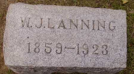 LANNING, WILLIAM J. - Meigs County, Ohio | WILLIAM J. LANNING - Ohio Gravestone Photos