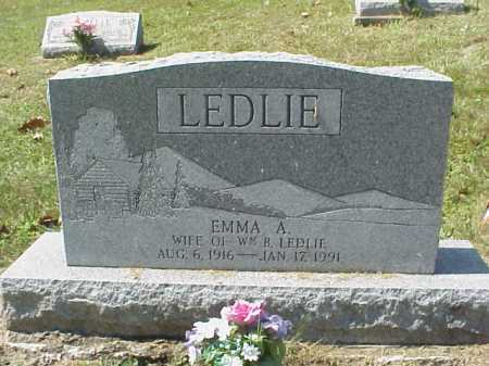 LEDLIE, EMMA A. - Meigs County, Ohio | EMMA A. LEDLIE - Ohio Gravestone Photos