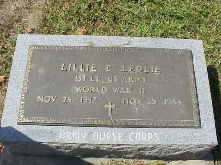 LEDLIE, LILLIE B. - Meigs County, Ohio | LILLIE B. LEDLIE - Ohio Gravestone Photos
