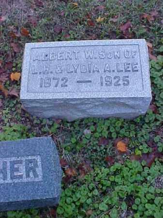LEE, ALBERT WAYNE - Meigs County, Ohio | ALBERT WAYNE LEE - Ohio Gravestone Photos