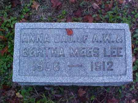 LEE, ANNA - Meigs County, Ohio | ANNA LEE - Ohio Gravestone Photos
