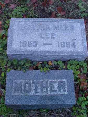 MEES LEE, BERTHA - Meigs County, Ohio | BERTHA MEES LEE - Ohio Gravestone Photos