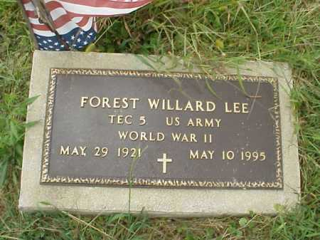 LEE, FOREST WILLARD - Meigs County, Ohio | FOREST WILLARD LEE - Ohio Gravestone Photos