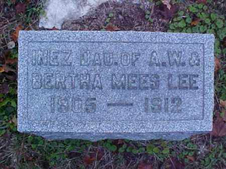 LEE, INEZ - Meigs County, Ohio | INEZ LEE - Ohio Gravestone Photos