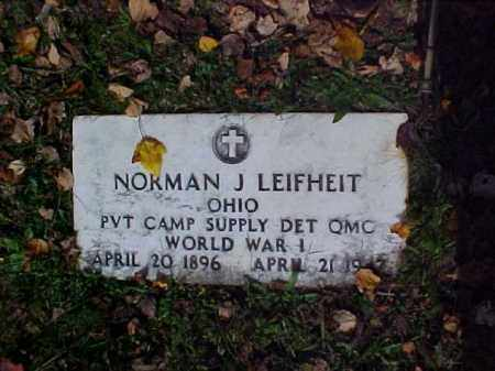 LEIFHEIT, NORMAN J. - Meigs County, Ohio | NORMAN J. LEIFHEIT - Ohio Gravestone Photos