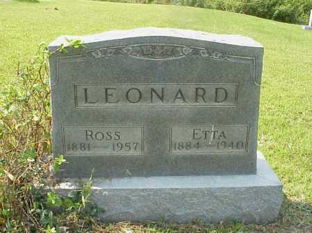 LEONARD, ROSS - Meigs County, Ohio | ROSS LEONARD - Ohio Gravestone Photos