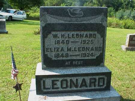 LEONARD, W. H. - Meigs County, Ohio | W. H. LEONARD - Ohio Gravestone Photos