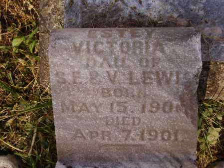 LEWIS, ESTEY VICTORIA - CLOSEVIEW - Meigs County, Ohio | ESTEY VICTORIA - CLOSEVIEW LEWIS - Ohio Gravestone Photos