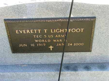 LIGHTFOOT, EVERETT T. - Meigs County, Ohio | EVERETT T. LIGHTFOOT - Ohio Gravestone Photos