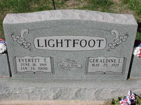 LIGHTFOOT, GERALDINE L. - Meigs County, Ohio | GERALDINE L. LIGHTFOOT - Ohio Gravestone Photos