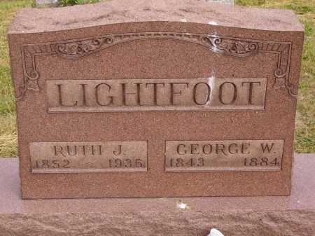 LIGHTFOOT, RUTH J. - Meigs County, Ohio | RUTH J. LIGHTFOOT - Ohio Gravestone Photos