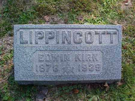 LIPPINCOTT, EDWIN KIRK - Meigs County, Ohio   EDWIN KIRK LIPPINCOTT - Ohio Gravestone Photos