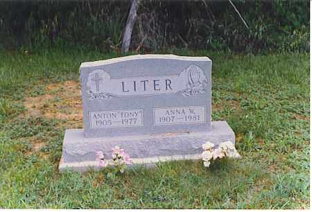 HENSLEY LITER, ANNA W. - Meigs County, Ohio | ANNA W. HENSLEY LITER - Ohio Gravestone Photos