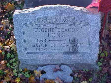 LONG, EUGENE DEACON - Meigs County, Ohio | EUGENE DEACON LONG - Ohio Gravestone Photos
